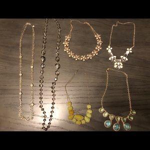Jewelry - Statement necklace lot (6)